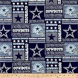 NFL Cotton Broadcloth Dallas Cowboys Patchwork...