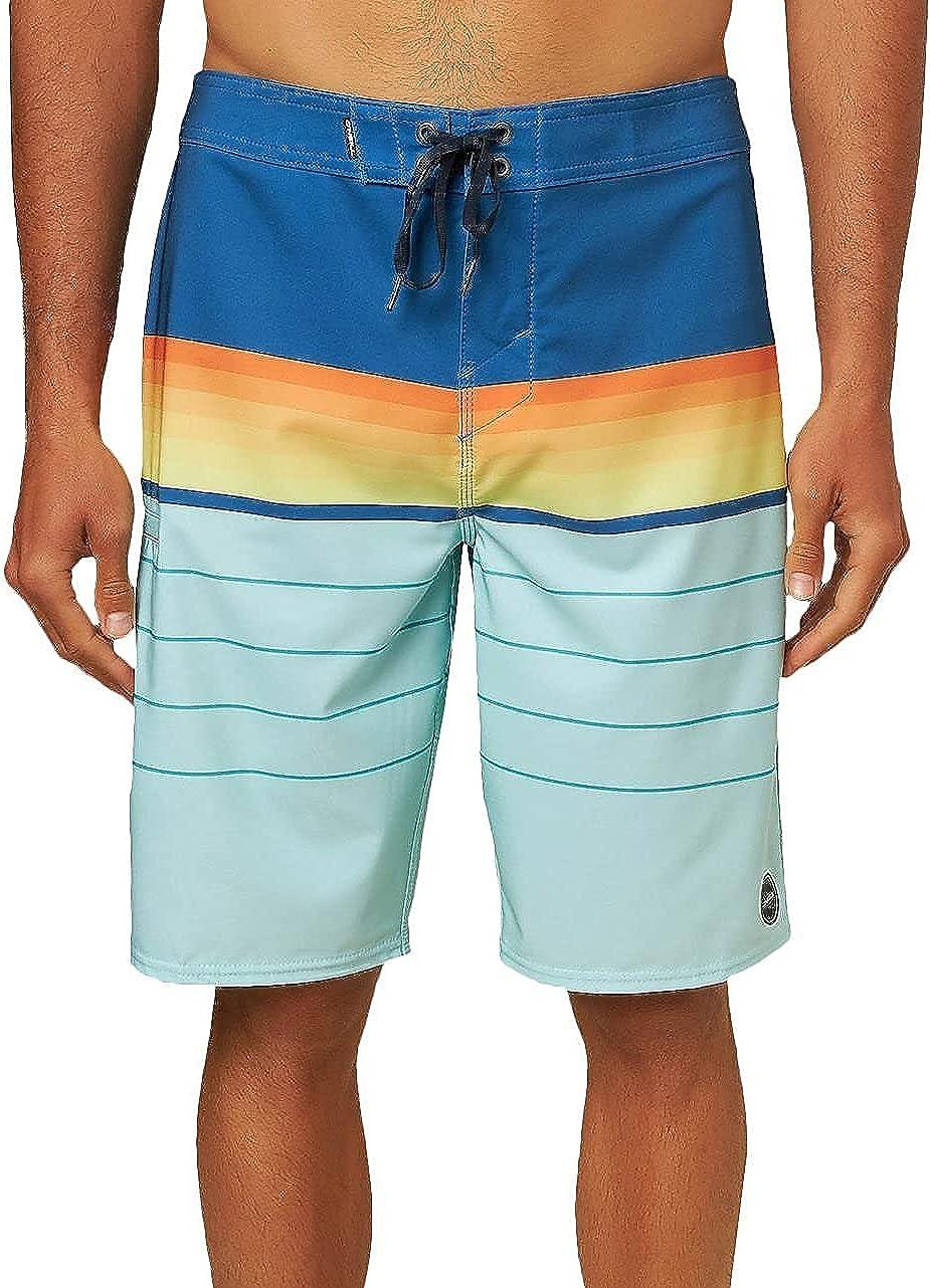 O'NEILL Men's Water Resistant Hyperfreak Stretch Swim Boardshorts, 21 Inch Outseam | Long-Length Swimsuit |