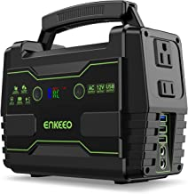 ENKEEO Power Station 155 Wh Portable Charger Lithium Backup Battery Pack 110V 100W Solar Generator (Solar Panel Optional) AC Outlet USB DC Supply for Outdoors Camping Travel Fishing Hunting E