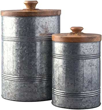 Signature Design by Ashley Divakar Set of 2 Jars - Casual, Antique Gray