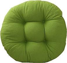 Almofada de almofadas de assento redondas, futon de cor sólida, algodão grosso e linho, decoração de casa confortável, alm...