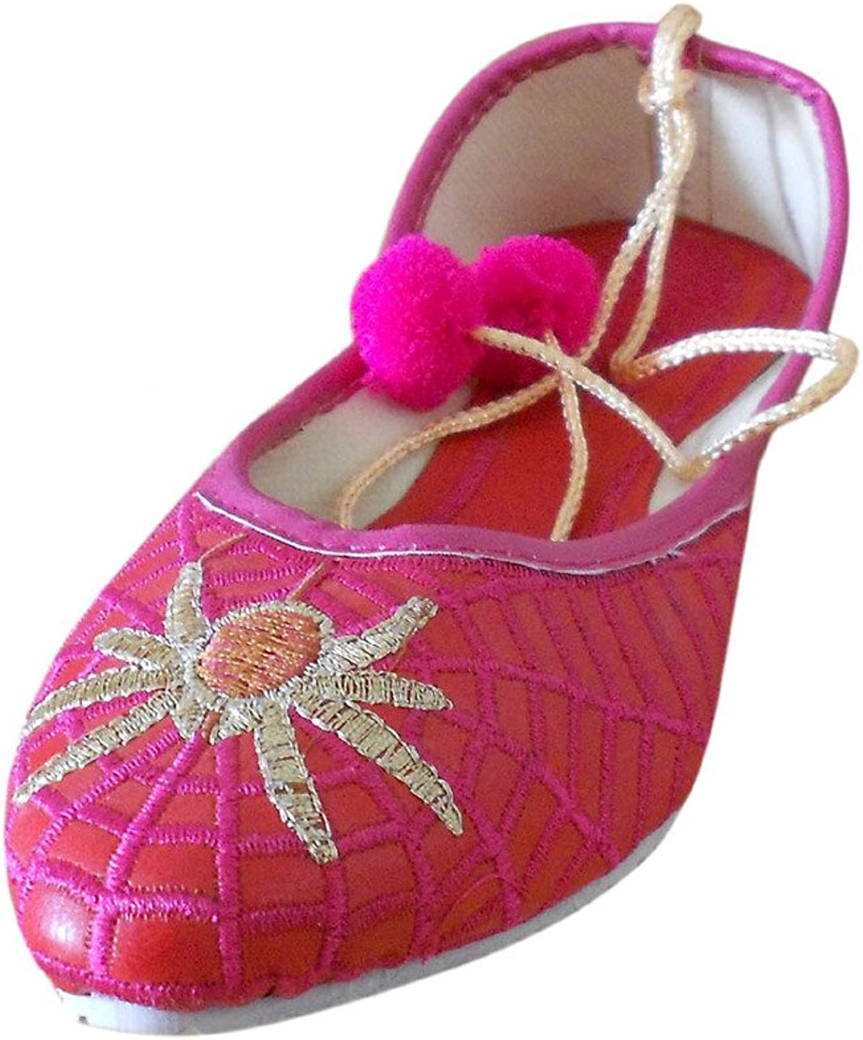 Kalra Creations Jutti Indian Women's Traditional Faux Leather with Embroidery Ethnic shoes