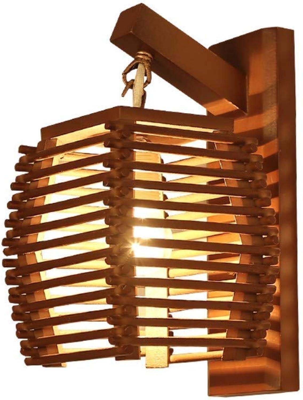 Kreative Vintage Bambus Wandlampe E27 Applique Licht Gasse Korridor Hotel Ktichen Dingle Room Restaurant Cafe Licht