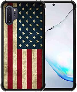for Samsung Galaxy Note 10 Plus Case/Galaxy Note 10 Plus 5G Case Us Grunge Flag Pattern, ABLOOMBOX Slim Thin Anti-Scratch ...