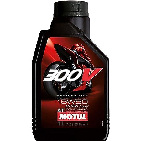 MOTUL(モチュール)300V 4T 15W50 バイク用エンジンオイル 100%化学合成(エステル) 1L [並行輸入品]
