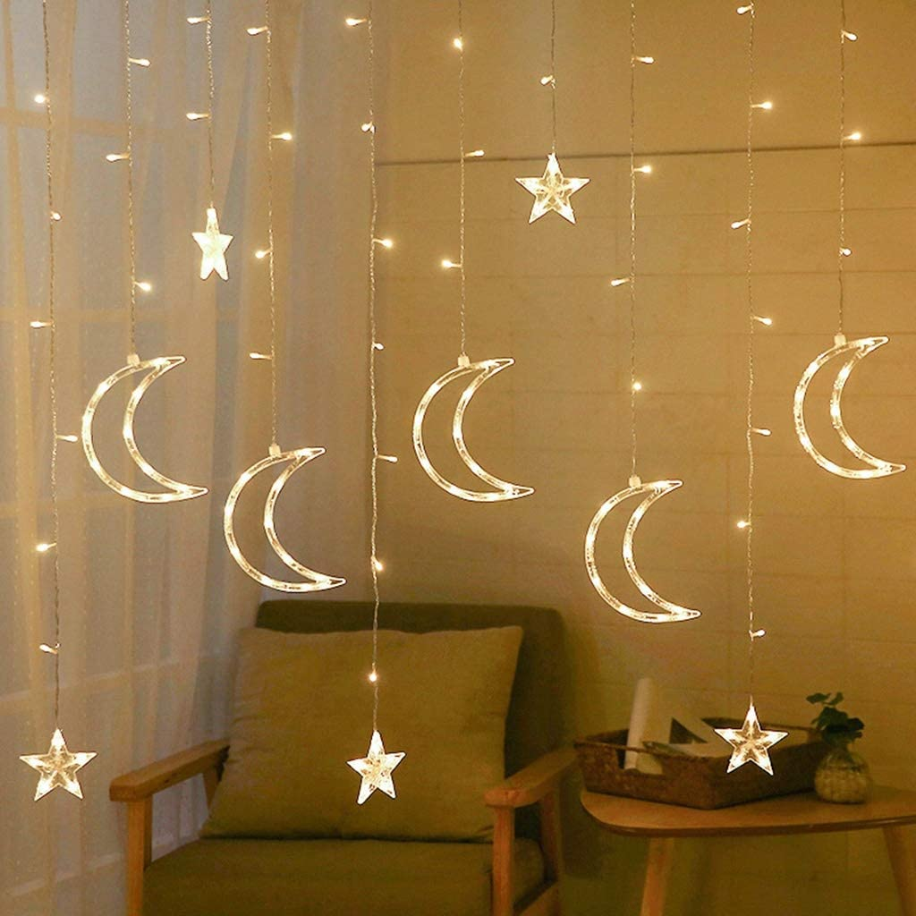 GNBHCP Outlet ☆ Free Shipping Fairy Lights LED Light Curtain Regular discount String Moon Ch Star