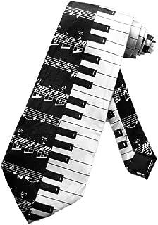 Steven Harris Mens Piano Keys Necktie - Black and White - One Size Neck Tie
