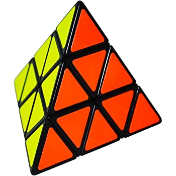 Walmeck Cubo Speed Pyramid Triangolo Magic Cube Piramide Stickerless Cube Puzzle Cubo per Principianti Bambini