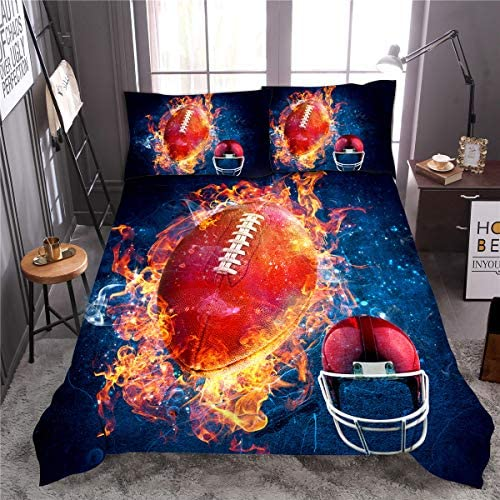 NTBED American Football Comforter Sets Twin Size for Boys Teens 3 Pieces Sports Bedding Comforter product image