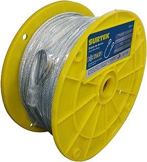 """Surtek CAP116 Surtek Cable acero recubrimiento PVC, 7x7, cal 3/16"""", 75m, color, pack of/paquete de 1"""