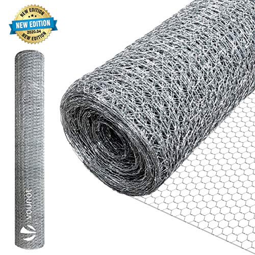 VOUNOT Grillage a Poule 1x25m Maille 13mm hexagonal...