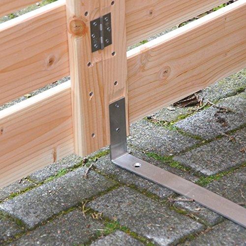 3er Mülltonnenbox / Mülltonnenverkleidung 120 L Holz, Deckend Geölt Tannengrün - 8