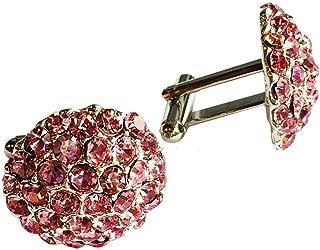 Clinks Cufflinks Mens Crystal Cluster Cufflinks - Pink