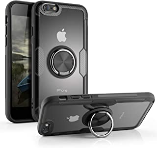 iPhone 6 Plus Case/iPhone 6s Plus Case, Aitour Clear Hard Back Cover Slim Case with 360° Rotation Ring Holder Kickstand [Work with Magnetic Car Mount] for iPhone 6 Plus/iPhone 6s Plus, e2