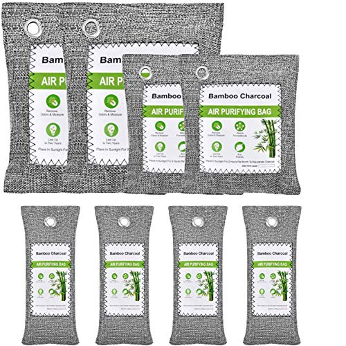 Buy Fratomesh 8 Pack Bamboo Charcoal Air Purifying Bag, Nature Fresh Air Fresheners Charcoal Bags Od...