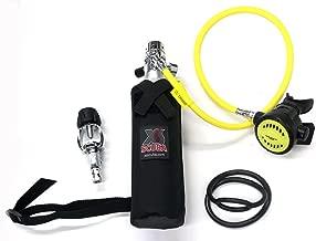 DXDIVER Bailout Pony Bottle Diving Kit with Hose 6 cf Tank Gauge Regulator Spare Secondary Air Scuba Dive Egressor