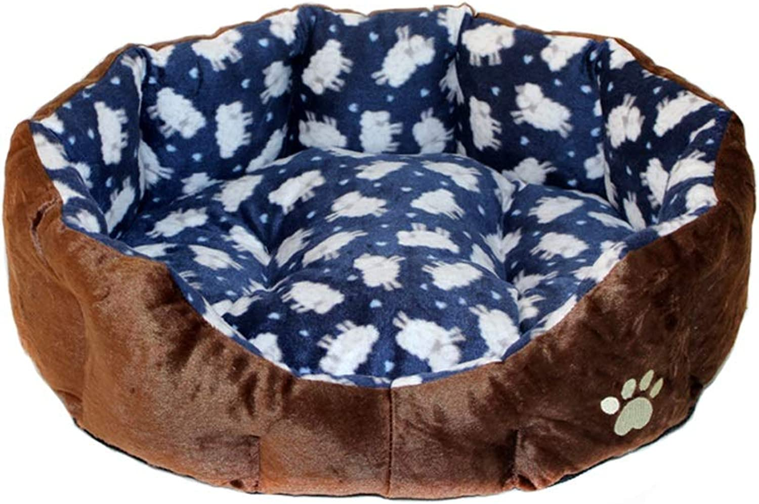 Pet house Cat nest kennel Small dog Washable pet nest Pet bed Pet mat Soft comfortable Keep warm Four seasons available (color   C, Size   50  45cm)