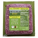 Laura's Lean 85% Grass Fed Ground Beef - 1lb bricks - 8 per case, no added hormones or antibiotics...