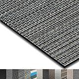 casa pura Indoor- und Outdoor-Bodenbelag Genua | kunstvoll gewebter Terrassenteppich | als Outdoor Teppich Meterware oder Läufer für innen | 40 Größen (90x400cm)