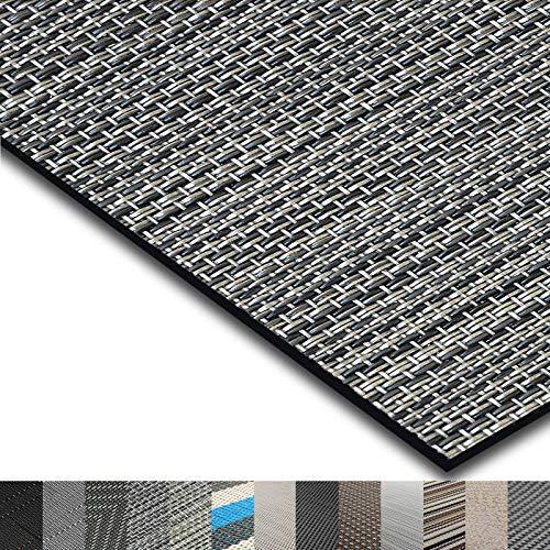 casa pura® Indoor- und Outdoor-Bodenbelag Genua | kunstvoll gewebter Terrassenteppich | als Outdoor Teppich Meterware oder Läufer für innen | 40 Größen (90x400cm)
