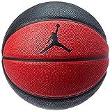 Balón pequeño Jordan de baloncesto, negro y rojo, talla 3