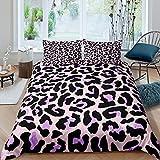 Loussiesd Juego de cama de leopardo con diseño de guepardo de safari para niños, adolescentes, animales y ropa de cama y ropa de cama, 3 piezas, Super King