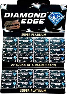 Super-Max Diamond Edge Double Edge Razor Blades, 100 blades