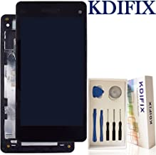 KDIFIX for Sony Xperia Z1 Mini Compact Z1c M51w D5503 LCD Touch Screen Assembly + Frame with Full Professional Repair Tools kit (Black+Frame)