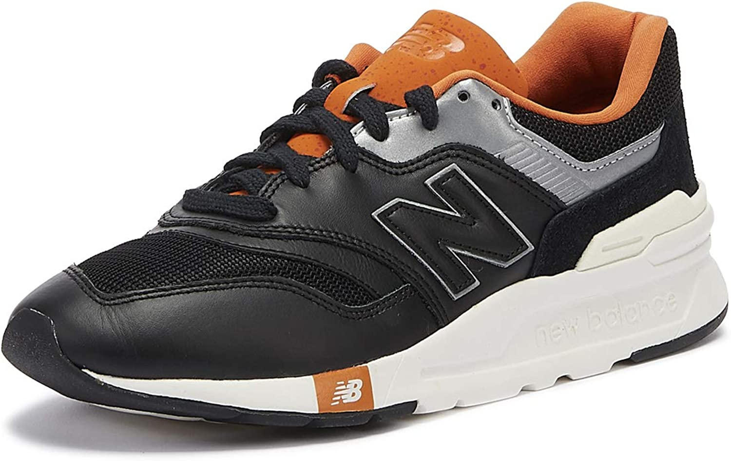New Balance Men's 997H Leather Trainers, Black
