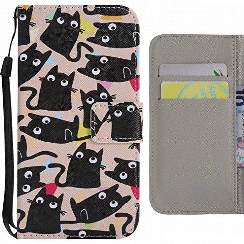 Ougger Handyhülle für ZTE Z981 / ZTE Zmax Pro hülle, Süße Katze Stil Tasche Leder Schutzhülle Bumper Schale Weich Tasche Magnet Silikon Beutel Flip Cover mit Kartenslot
