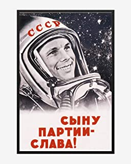 Yuri Gagarin - Soviet Era Poster | Poster No Frame Board for Office Decor, Best Gift for Family and Your Friends 1117 Inch
