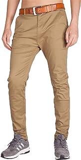 I.TALYMORN Men's Chino Business Flat Front Casual Pants (32, Dark Khaki)
