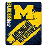 The Northwest Company Michigan Wolverines 'Painted' Fleece Throw Blanket, 50' x 60' , Blue