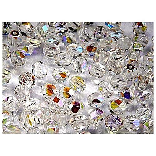 6b0b8c10166d 50 pcs Checa facetado cuentas de vidrio