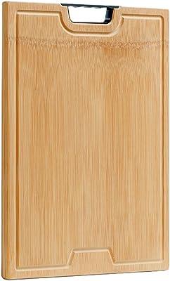 キッチンの厚いカッティングボードカッティングトレイサービング竹の刻み板肉、野菜、パンのために使用15.7 * 11.8インチ