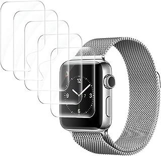 UniqueMe [6 Pack] Protector de Pantalla Compatible con Apple Watch 38mm Series 1/2/3, [Fácil instalación] [Sin Burbuja] [A...