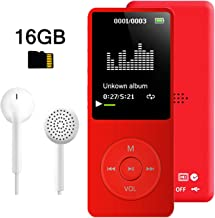 $21 » MP3 Player, Dyzeryk Music Player with 16GB Micro SD Card, Ultra Slim Music Player with Build-in Speaker, Photo Viewer, Video Play, FM Radio, Voice Recorder, E-Book Reader, Supports up to 128GB