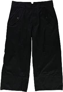 Womens Twill Casual Wide Leg Pants