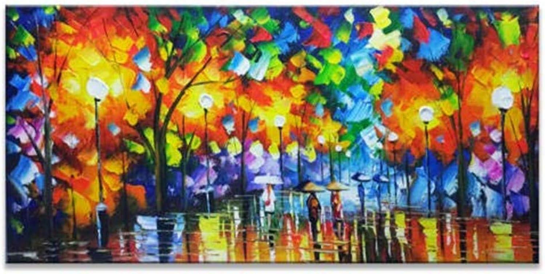 ofrecemos varias marcas famosas YAOUAPT Atmósfera Moderna Pintura Pintura Pintura Al óleo Gruesa Pintura En 3D Sala De EEstrella Dormitorio Pintado A Mano Puro Pintura Decorativa del Paisaje Luz 70X140Cm  calidad fantástica
