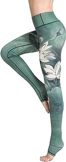 Printed Extra Long Women Yoga Leggings High Waist Tummy Control Over The Heel Yoga Pants