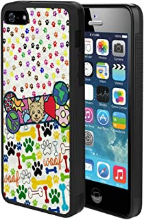 Case for iPhone 5 Case iPhone 5S Case iPhone SE Dog Bone Full Body Shock Absorption TPU Rubber Black Frame Cover Case for iPhone 5 Case iPhone 5S Case iPhone SE 1 Pack