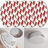 Rauchmelder Magnethalter, 5er Pack, Ø 50 mm, Selbstklebend, 3M Pads, Magnethalterung zur einfachen...