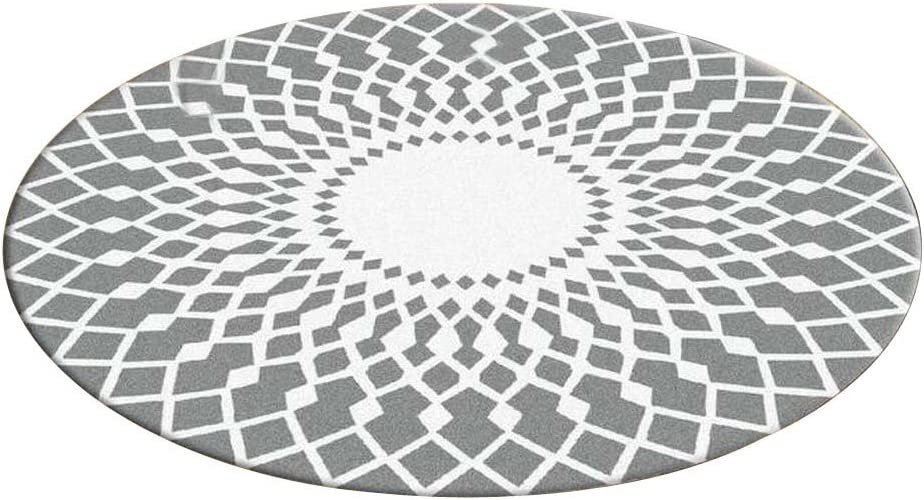 GrayWhite Stylish Round Area Rug Mat Bargain Wholesale Chair Bedroo Living Room