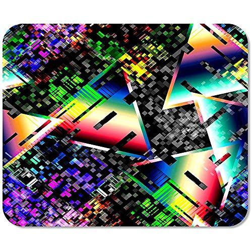 Mousepad Bloc de Notas Office 1980 Glitch Cyber-Punk Digital Gradient
