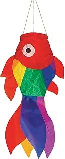 In the Breeze 4968 Rainbow Damselfish Fish Windsock, 15-Inch