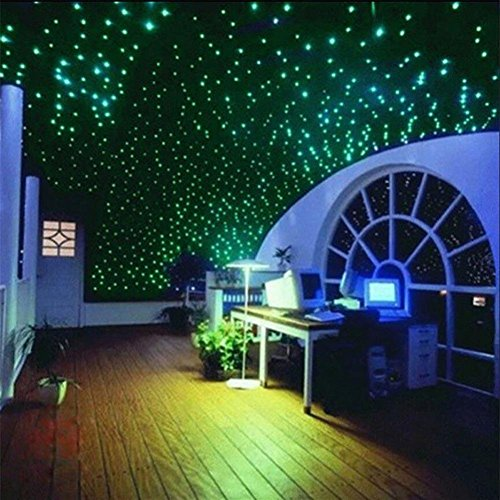 Dyyicun12 Wandaufkleber, 200 Stück 3D-Sterne, die im Dunkeln leuchten, fluoreszierende Wandaufkleber, Heimdekoration mehrfarbig