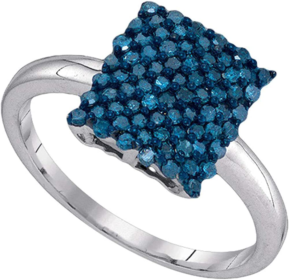 The Milwaukee Mall Diamond Deal 10kt White Gold Color Ranking TOP7 Enhance Round Womens Blue
