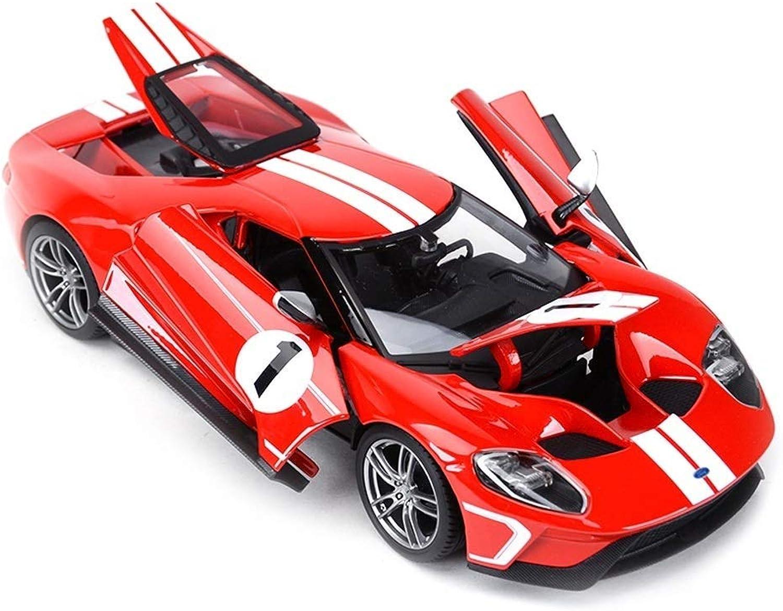 promociones YaPin YaPin YaPin Model Coche 1 18 Ford GT Simulación de Aleación de Coche Modelo Decoración Juguete para Niños Regalo 26.4x12.5x6CM Modelo de Coche  calidad fantástica