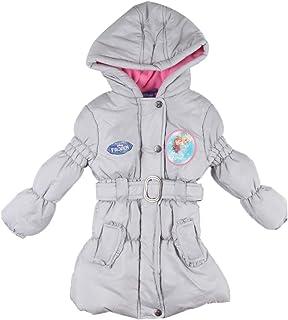 Filles Disney Frozen Elsa Anna fausse fourrure Parka Rembourrée Veste imperméable manteau anorak