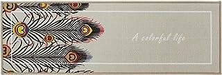 LTHTX Tapis de cuisine imprimé antidérapant doux et absorbant pour la buanderie, l'évier, le bureau (40 x 120 cm), 5)